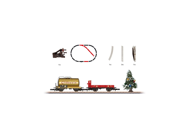 Christmas Add-On Set. Car Set with a Siding and a