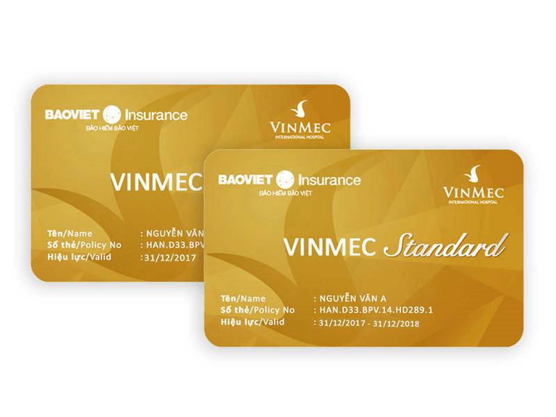 Thẻ bảo hiểm sức mạnh Vinmec Standard link với bảo hiểm Bảo Việt