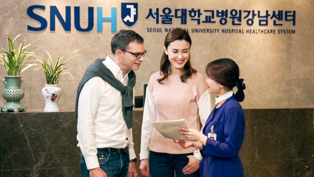 Đội ngũ nhân viên nhiệt tình tư vấn tại bệnh viện đại học Seoul