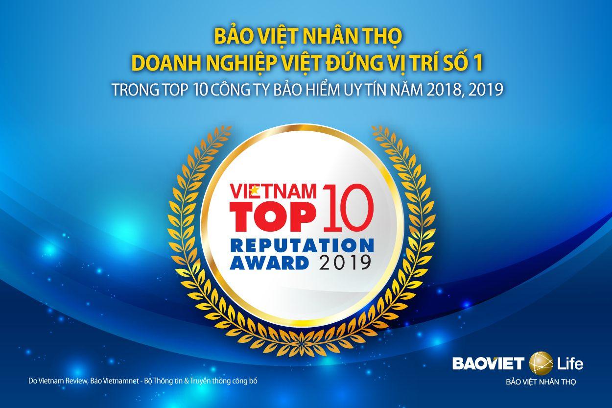 Công ty bảo hiểm Bảo Việt tự hào là vìanh nghiệp liên tục đứng vị trí số 1 trong nghành nghề bảo hiểm ở việt nam