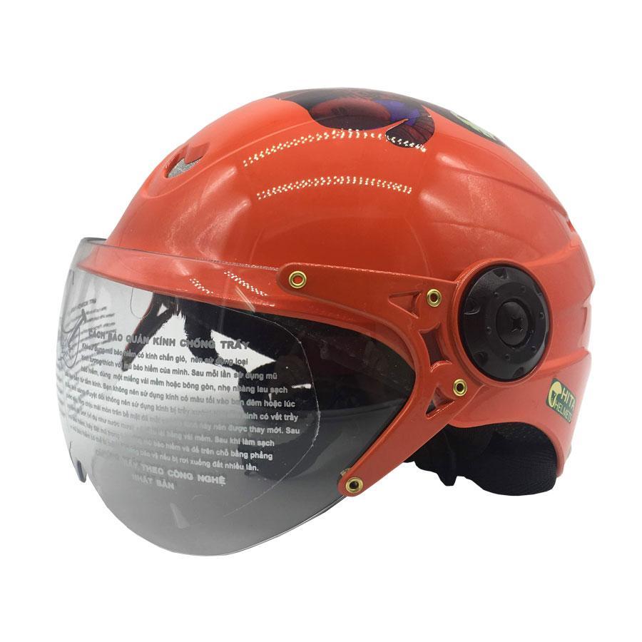 Nón bảo hiểm nửa đầu có kính Chita với vỏ làm từ nhựa ABS