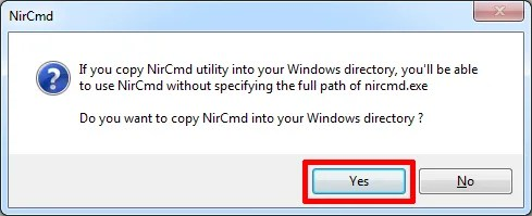NirCmd, установите утилиту командной строки