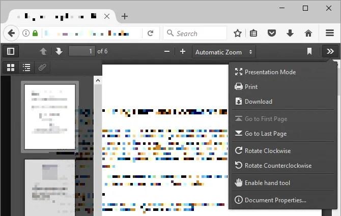 Lettore PDF di Mozilla Firefox