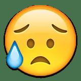 cry disappointed emoji emoticon