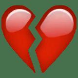 heartbroken heartbreak emoji emoticon heart