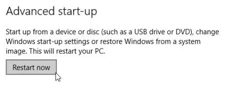 Windows 10 Advanced Startup