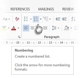 Inserisci numeri nelle tabelle