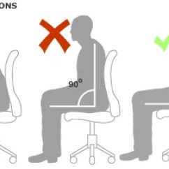Office Chair Leaning To One Side Giant Bean Bags Chairs Sitting Up Straight Is Bad The Right Way Sit At A Desk Proper Diagram