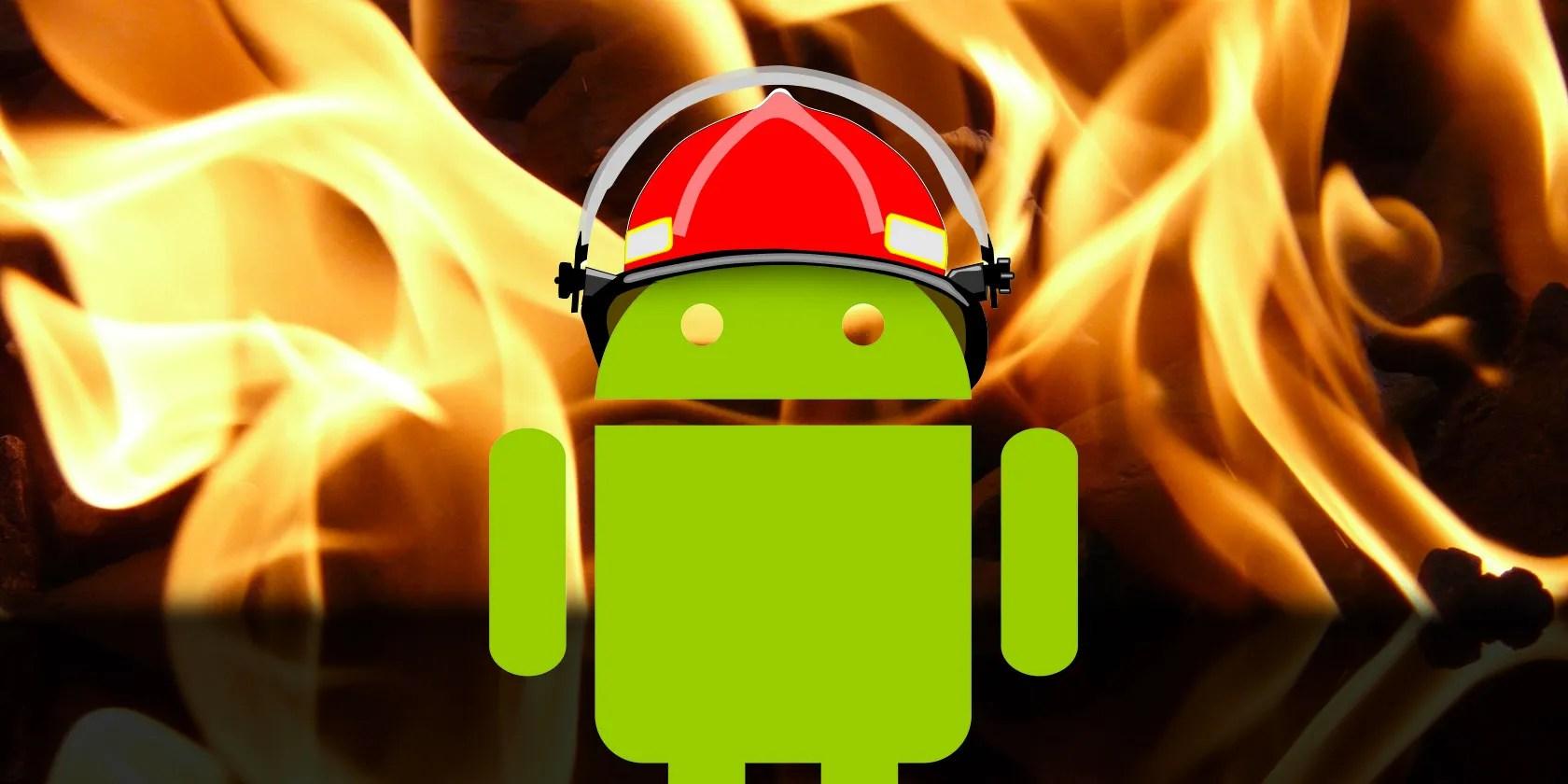android-surriscaldamento