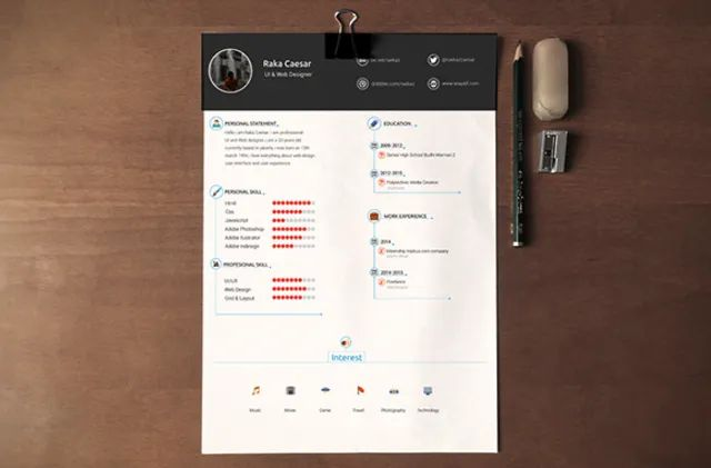 creative resume templates photoshop free