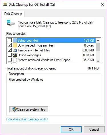 Средство очистки диска Windows