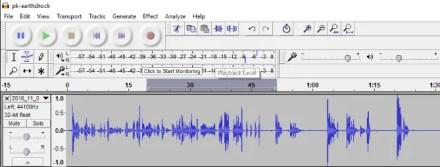 Remove background noise - Audacity editing timeline