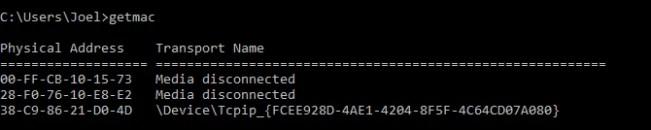 windows-command-getmac