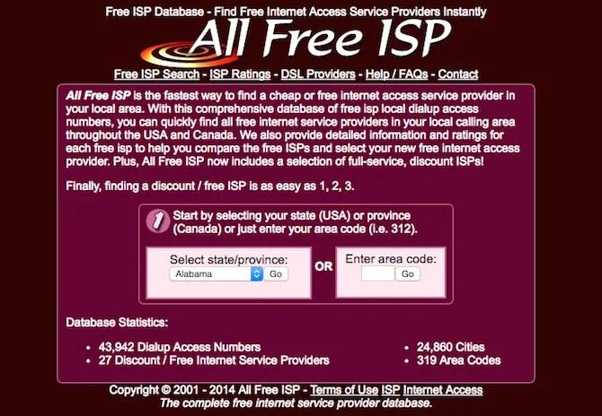 Free-ISP-Finder