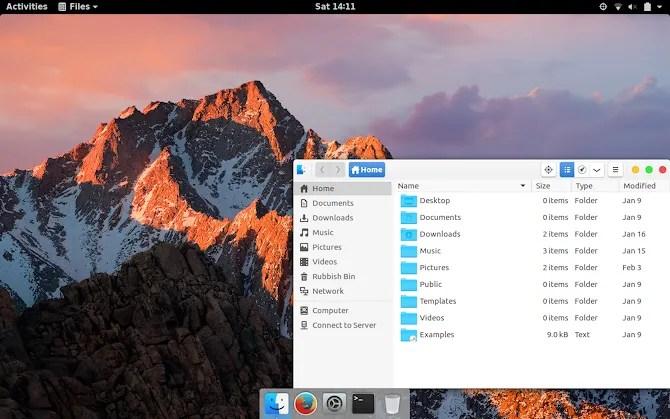 Установите macOS-подобную тему для GNOME