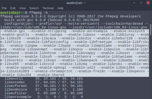 ffmpeg features