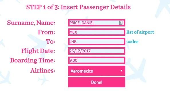 поддельные данные авиабилета