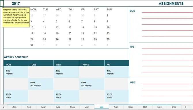 студенческий календарь