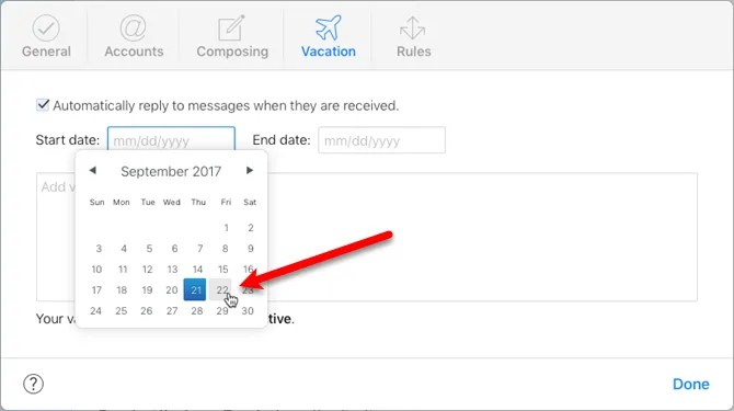 How to Set Up an Out-of-Office Email Reply on Your Mac