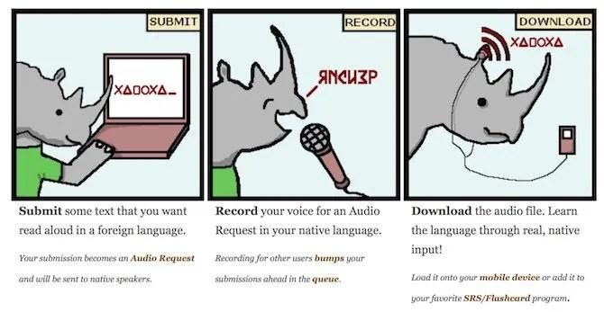 تعلم اللغة ارتفاع وحيد القرن