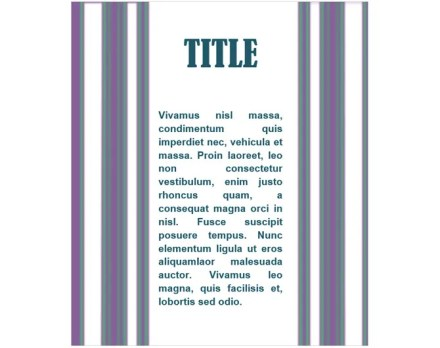 cover page template purple lined