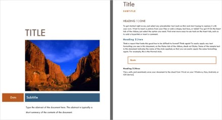 cover page template office median