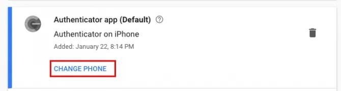 Google Authenticator сменить телефон