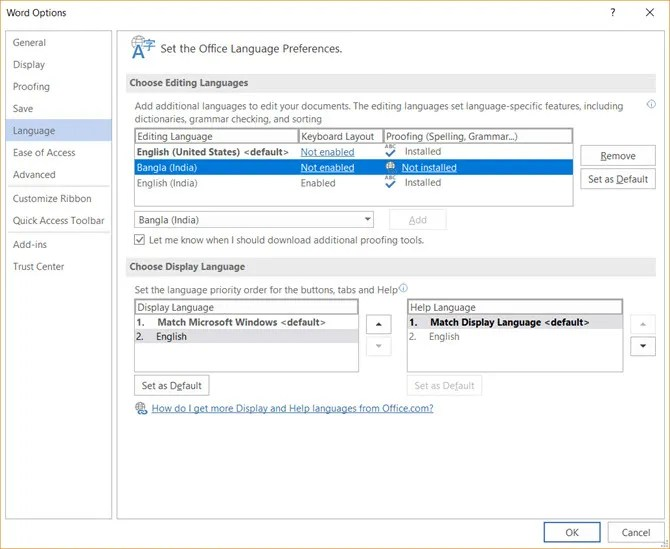 How to manually change the language used in Office for Mac