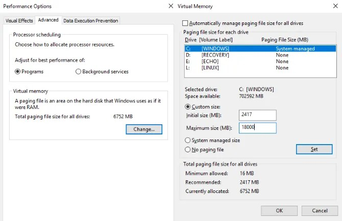 Gamers Discussion Hub muo-windows-disk-usage-virtualram 6 Easiest Way To Fix 100% Disk Usage in Windows 10.