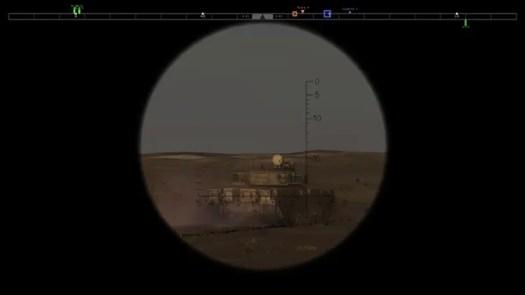 Steel Armor: Blaze of War tank gunner view