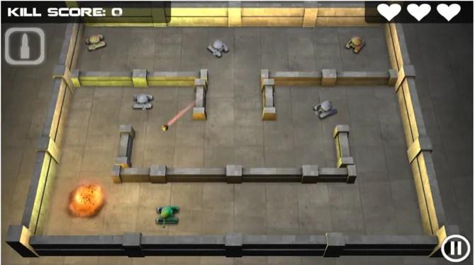 Скриншот битвы героя танка