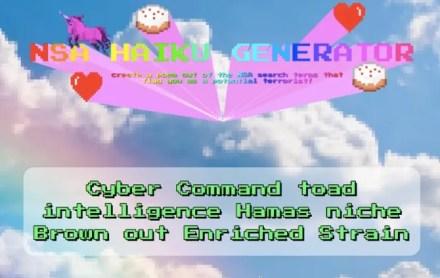 NSA Haiku Generator