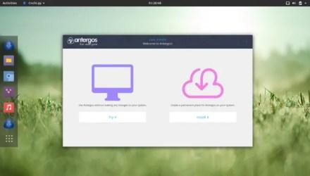 Arch Linux antegos on desktop