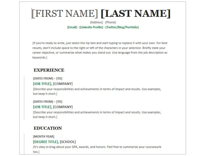 20 Free Resume Templates for Word That'll Help You Land a Job