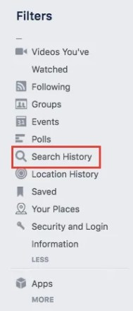 How to Clear Your Facebook Search History Facebook Search History Browser 1