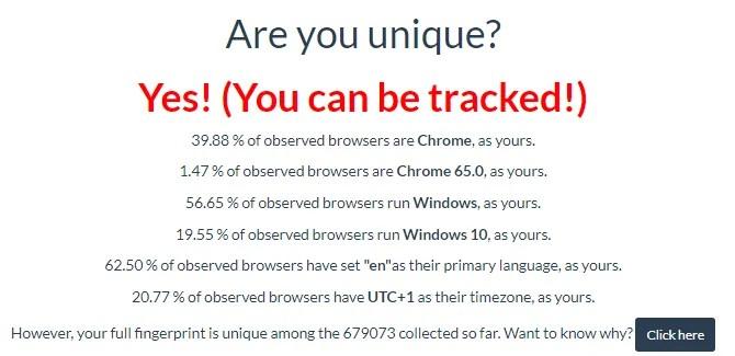 узнайте, кто отслеживает вас в Интернете, с помощью Are You Unique