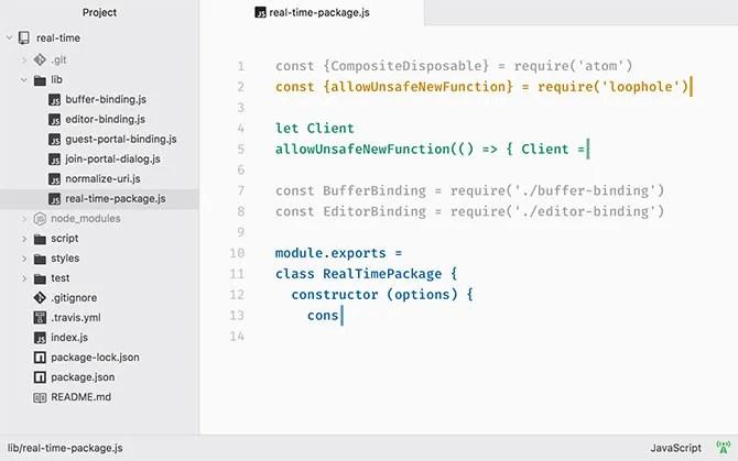 Atom HTML текстовый редактор Mac