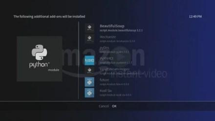 Amazon VOD dependencies in Kodi