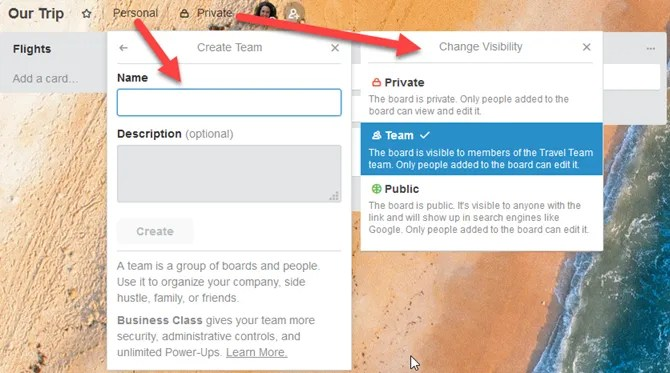 TrelloTrip CreateTeam - How to Plan Your Next Vacation or Business Trip Using Trello