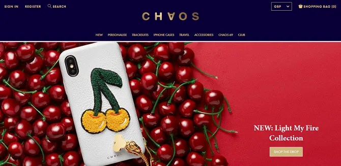 chaos 670x327 - The 20 Best Shopify Stores to Try Instead of Amazon or eBay
