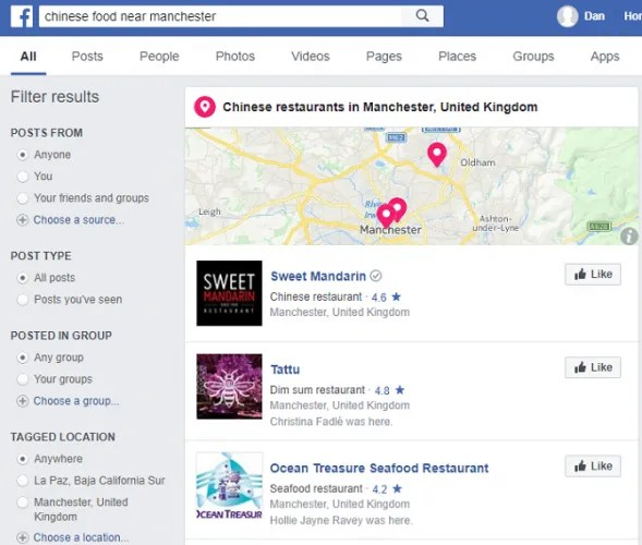 facebook chinese 589x500 - 7 Facebook Search Tips to Find What You're Looking For