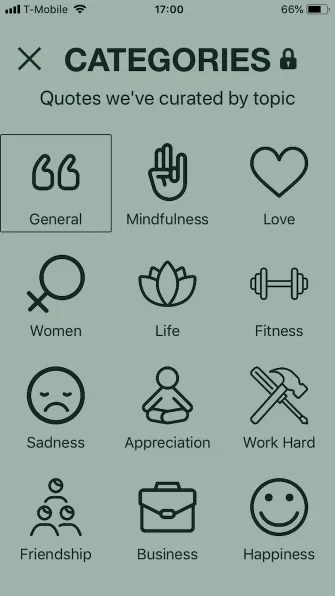 motivation categories 335x596 - 5 Motivational Apps for iPhone to Help You Think Positive