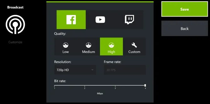 nvidia streaming 670x333 - How to Record and Stream Games Online in Windows 10