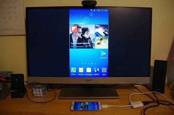 Come collegare il telefono al televisore Uso di USB - telefono con mirroring su TV 1