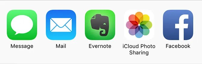 Share to Apps in iOS