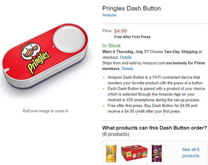 Amazon Dash Button Pringles - What Is Amazon Dash? And 6 of the Best Hacks You Should Know