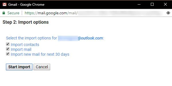 Gmail-Import-Options