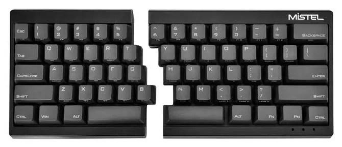 Mistel Barocco Ergonomic Keyboard