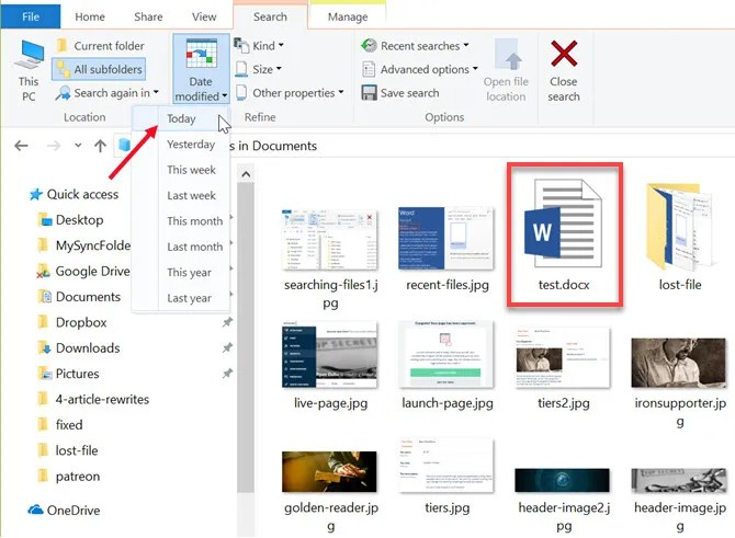 how to recover lost or misplaced files