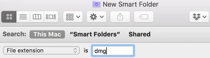 Mac Smart Folder DMG files